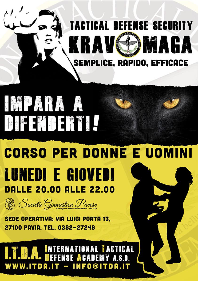 Corso Difesa Personale Krav Maga Donne e Uomini Pavia